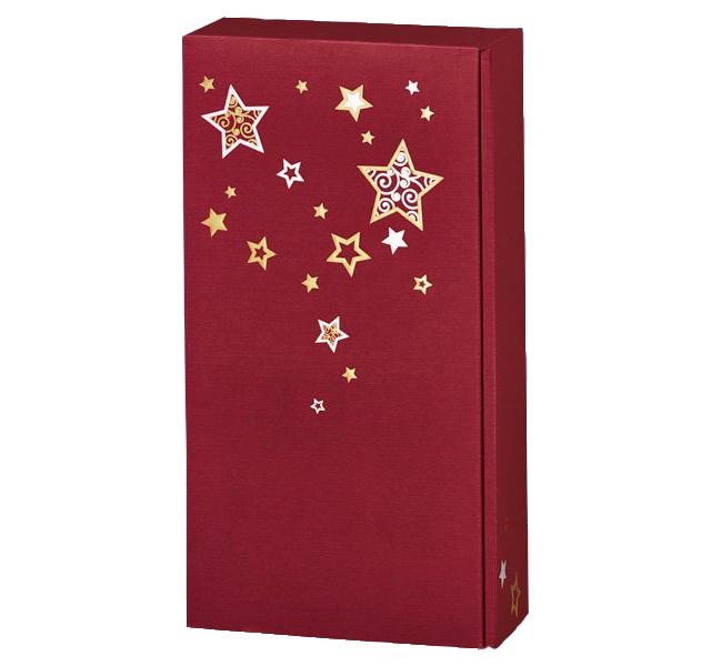 2er Präsentkarton Lino Weihnachtstraum Bordeaux