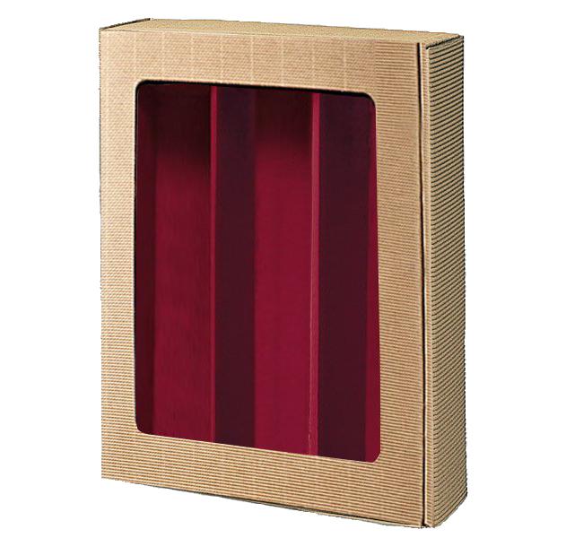 3er Präsentkarton Welle Modern Natur Fenster