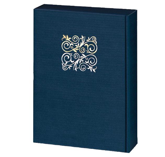 3er Präsentkarton Lino Opus Dunkelblau