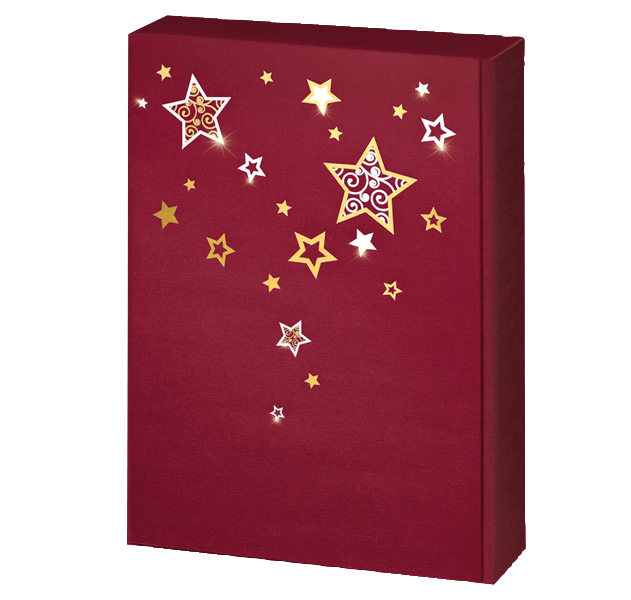 3er Präsentkarton Lino Weihnachtstraum Bordeaux