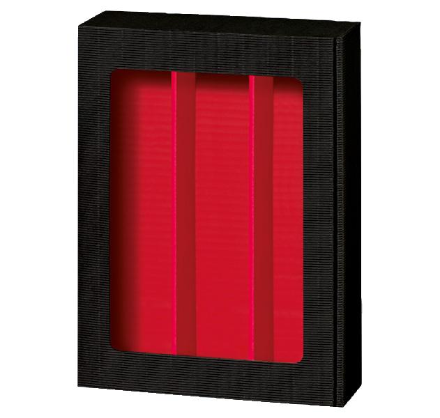 3er Präsentkarton Welle Modern Schwarz Fenster