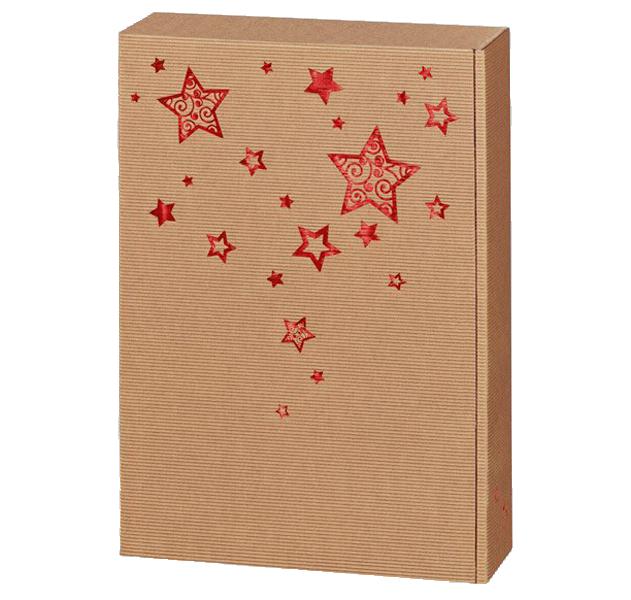3er Präsentkarton Welle Weihnachtstraum Natur