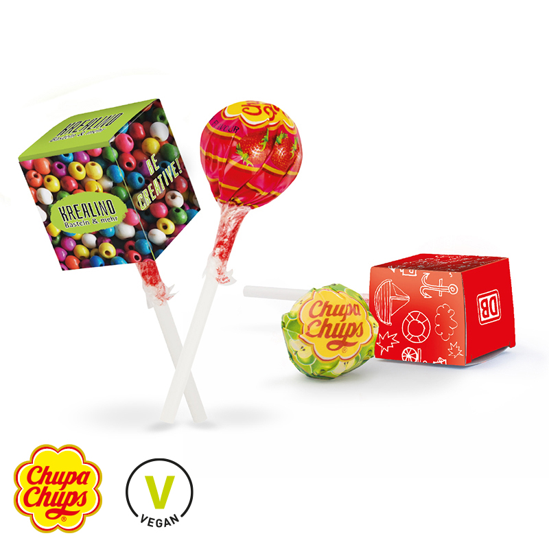 Lolly-Box mit Kugel-Lolly Chupa Chips