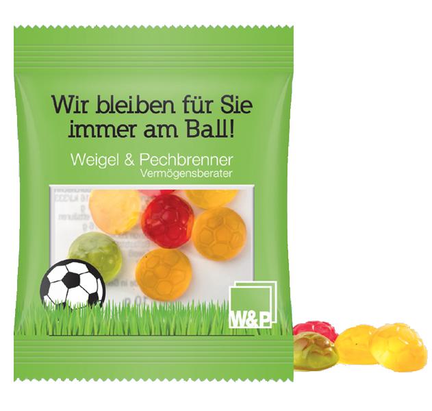 Minitüte Fruchtgummi TROLLI Fussball  - 10 g.