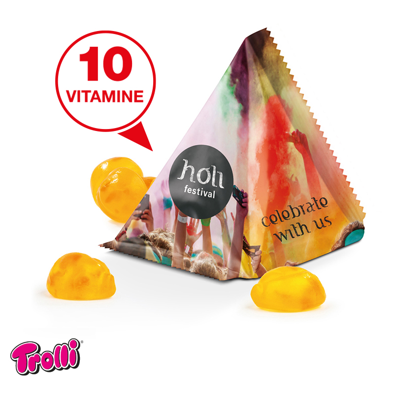 Tetraeder Fruchtgummi TROLLI Vitamine - 15 g.
