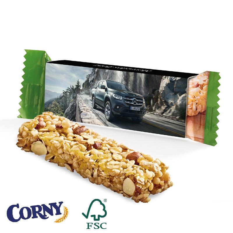 Corny-Müsliriegel Werbeschuber