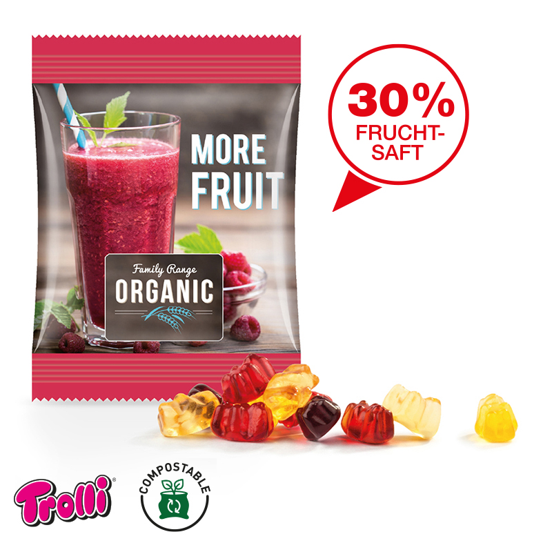 Minitüte Fruchtgummi TROLLI Fruchtsaft-Qualität Exquisit - 15 g.