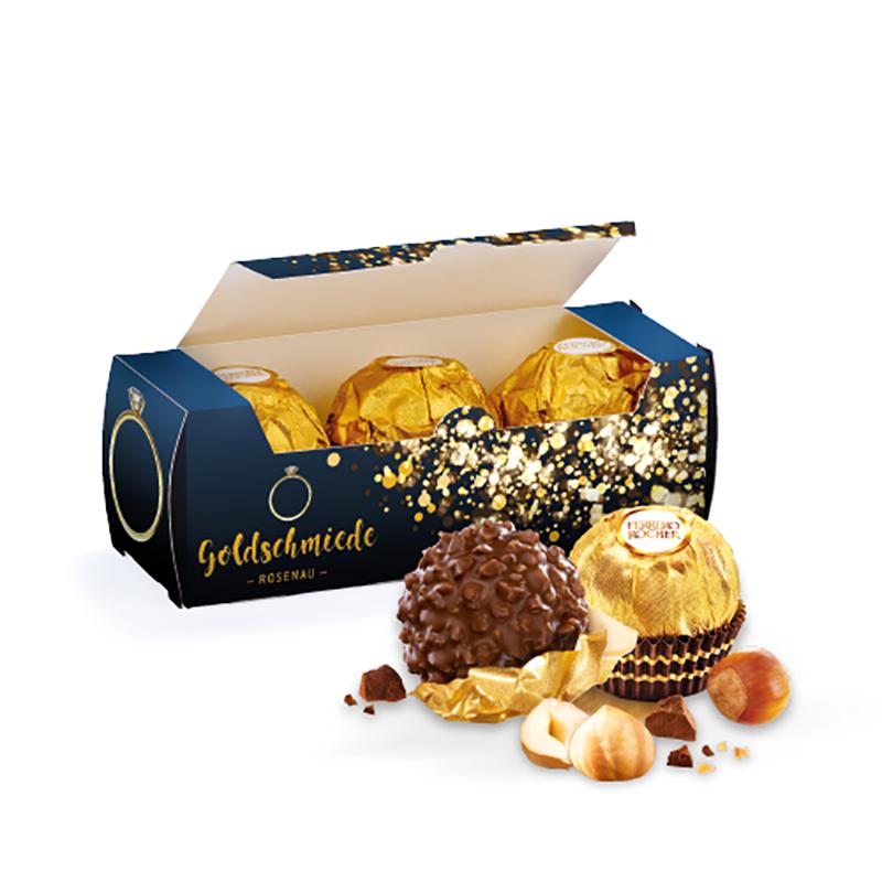 Dreierpack Ferrero Rocher in Werbebox