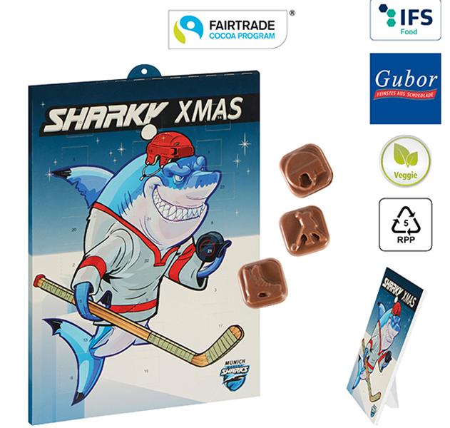 Sport-Adventskalender Schokolade Eishockey Individuell