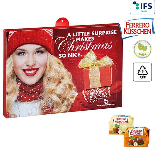 Premium Präsent-Adventskalender Ferrero Küsschen