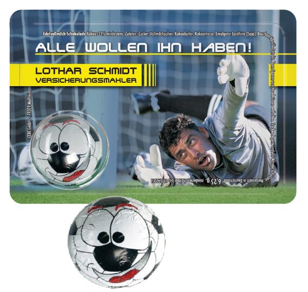 Sweet Card Schoko-Fussball