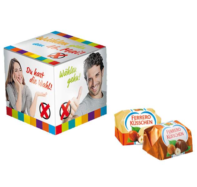 Mini Promo-Würfel Ferrero Küsschen