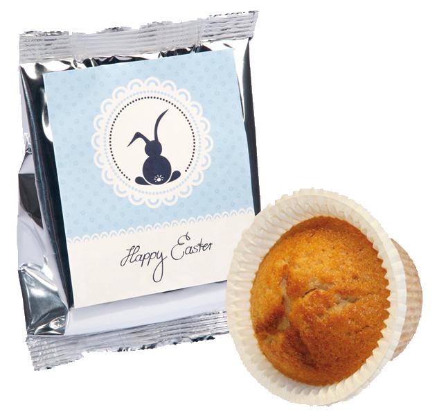 Orangen-Muffin Silberfolie Ostern