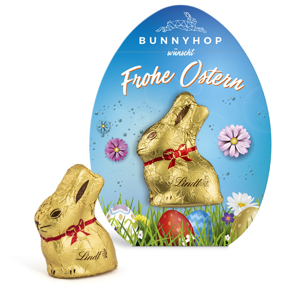 Lindt Mini Goldhase in Werbekartonage