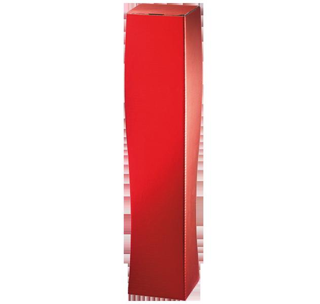 1er Faltschachtel Skulptur Rot