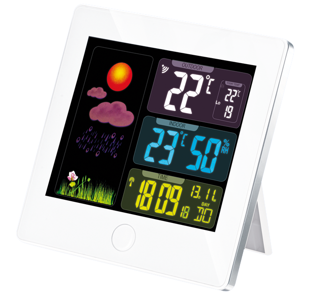 Wetterstation mit Aussensensor und Funkuhr
