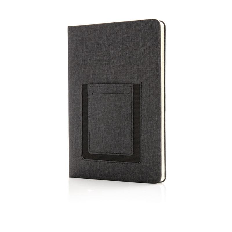 Deluxe A5 Notizbuch mit Telefontasche