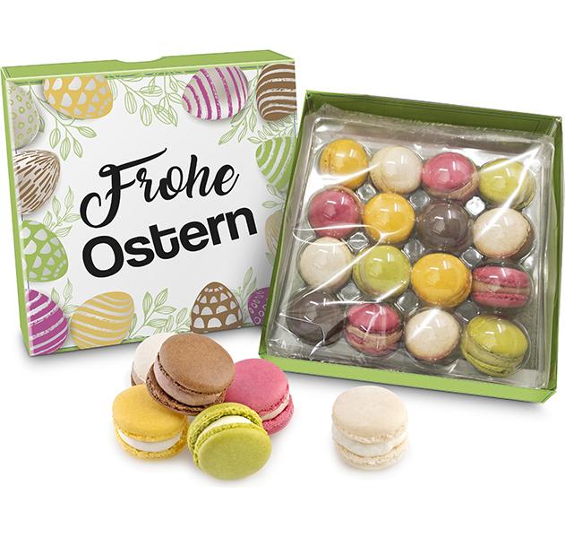 Geschenkpackung Oster-Macarons