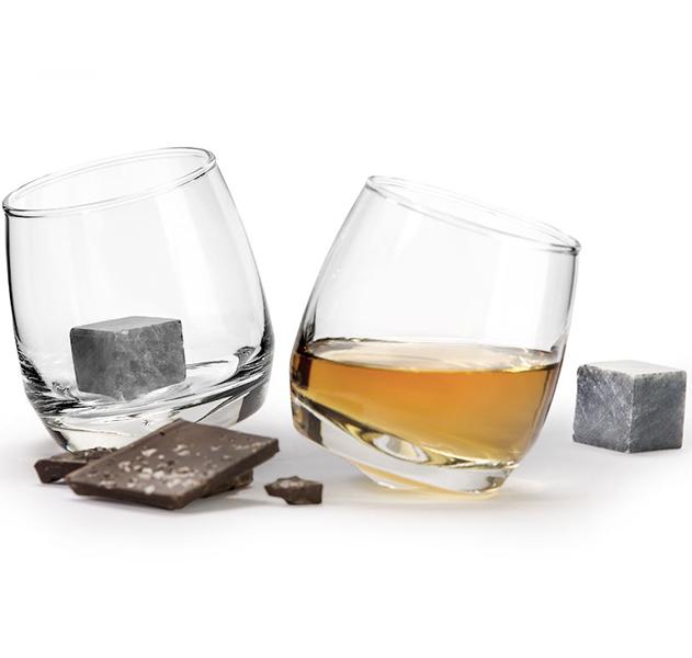 2er Geschenkset Whisky-Glas + Kühlsteine