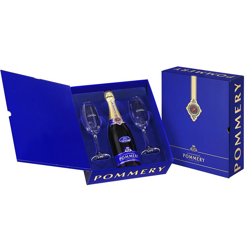 Champagne Pommery Royal Geschenkset