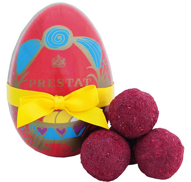 Geschenkpackung Prestat Osterei Red Velvet mit Trüffeln