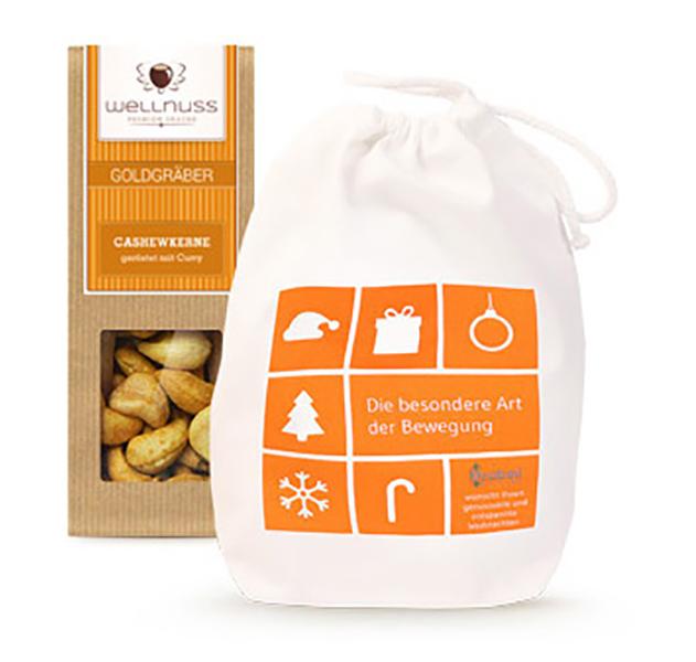 Premium 1er Wellnuss Snack Baumwollsäckchen