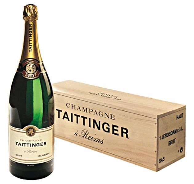 Champagne Taittinger Brut Reserve Jeroboam Holzkiste